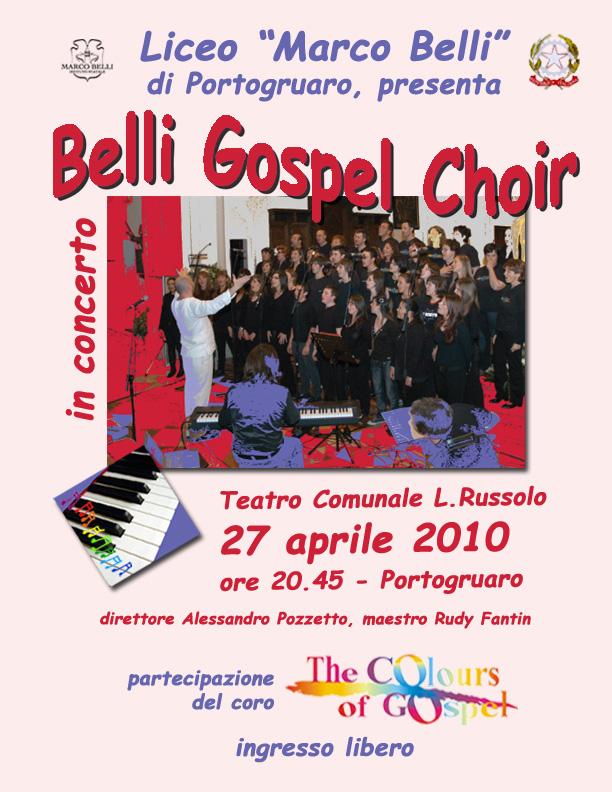 locandina Belli Gospel Choir