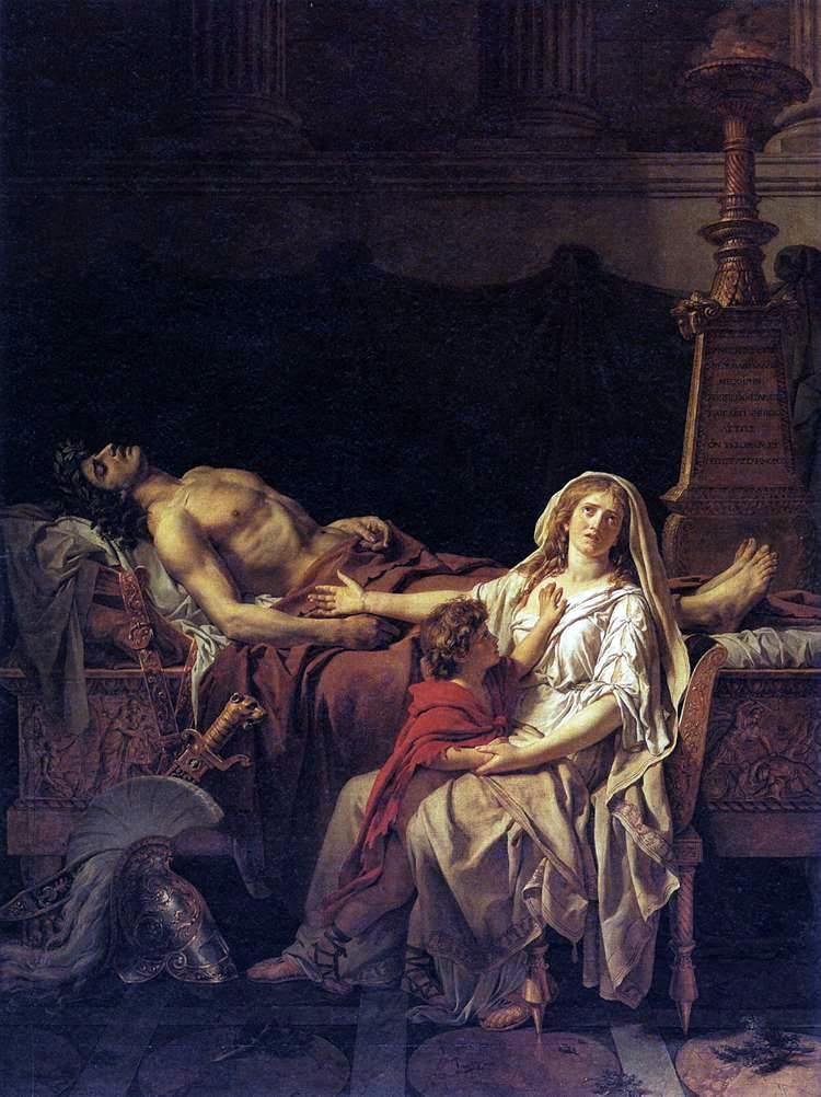 Andromaca piange la morte di Ettore